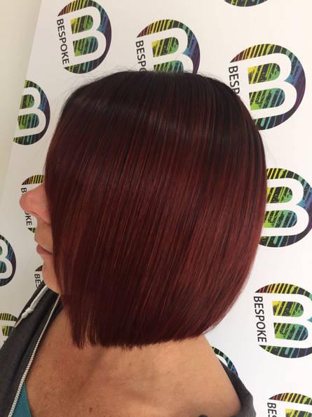 Sleek Brunette Bob by the Bespoke Salon Stylists
