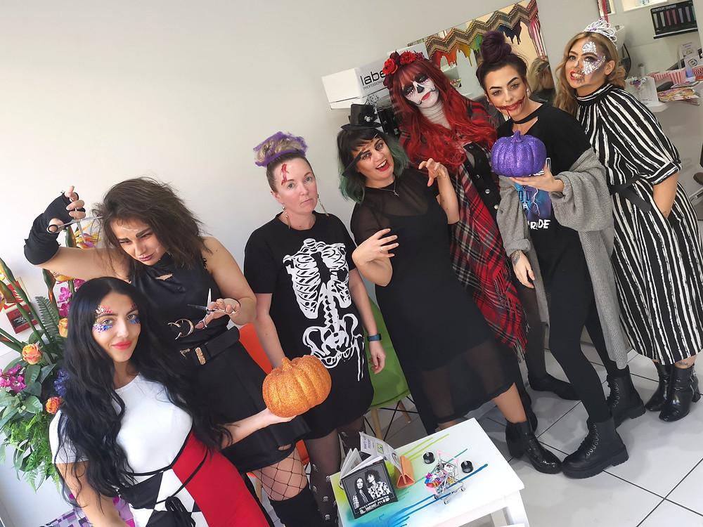 The Bespoke Salon Team on Halloween