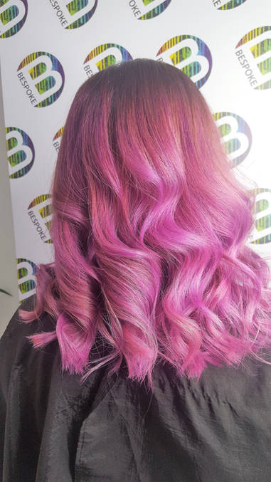 Lilac Long Curled Hair