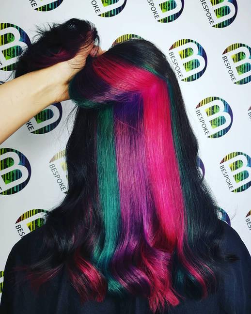 Hidden Rainbow Hair Panel Colour