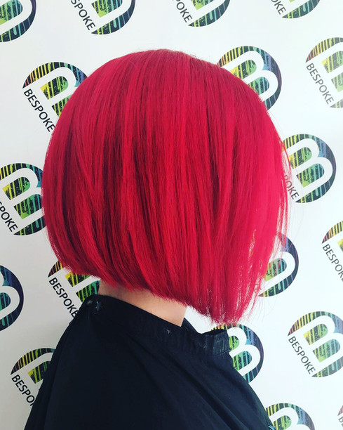 Sharp Red Coloured Bob