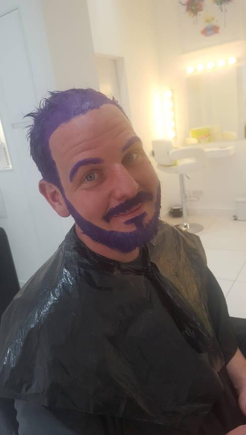 Purple Beard Colour at Bespoke Hair Salon