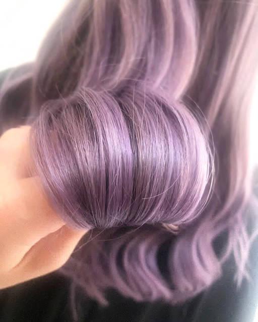 Close up Purple Hair Colour