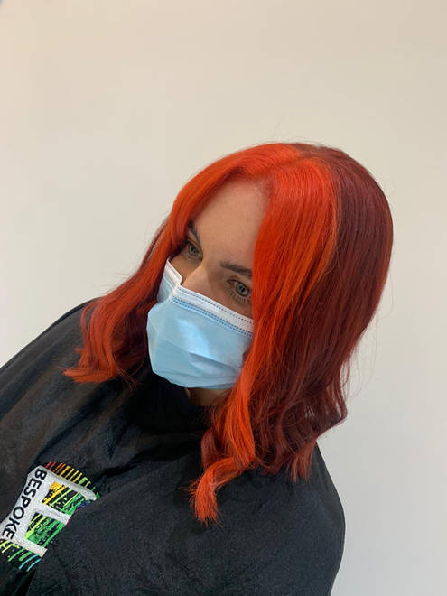 Statement Red Money Piece Hair