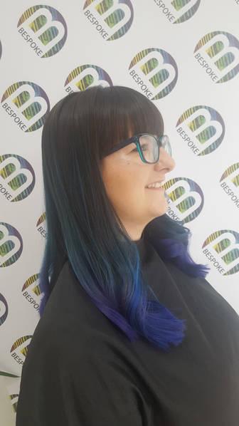 Petrol Coloured Hair at Bespoke Hair Salon