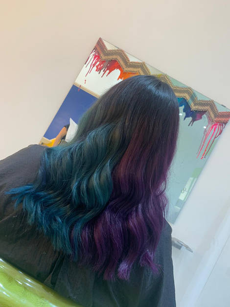 Purple and Teal Hair Colour