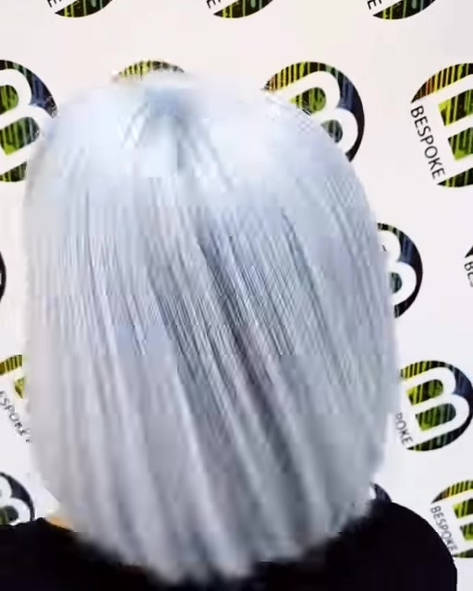 Icy Silver Hair