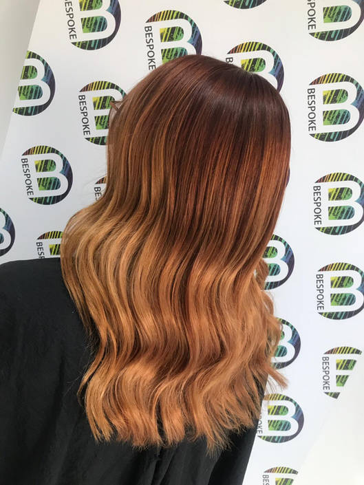 Caramel Blend Hair Colour at Bespoke Salon Dunfermline