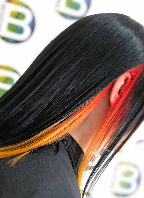 Hidden Tequila Sunrise Hair Colour Panel