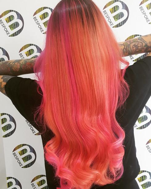 Vivid Colour Pink Long Hair