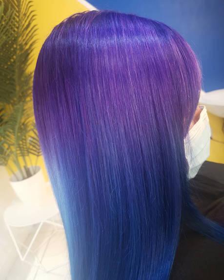 Purple Galaxy Blend Hair Colour at Bespo
