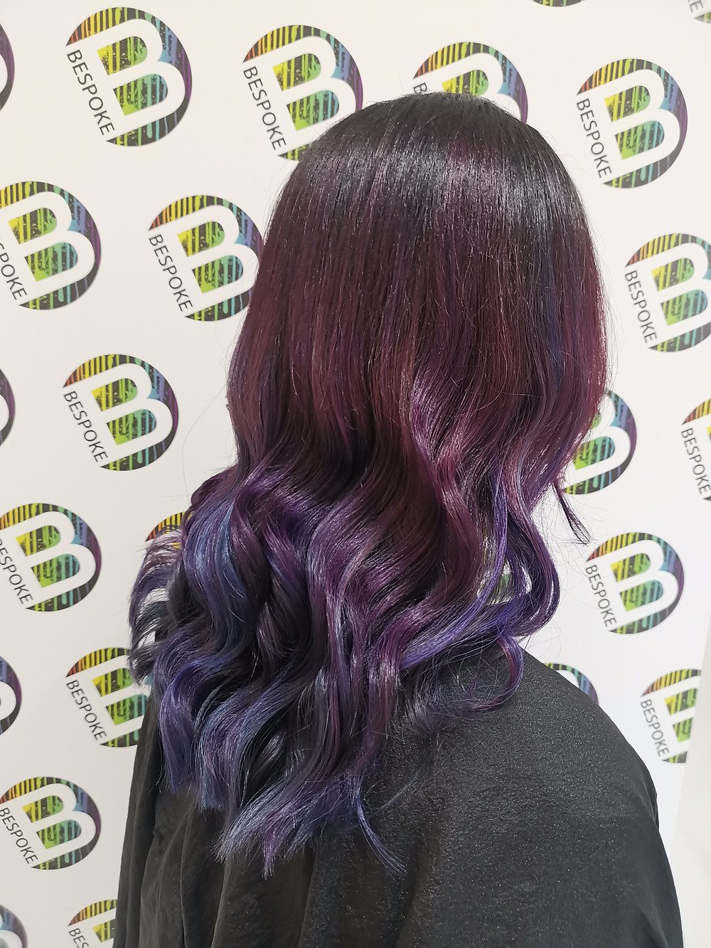Vivid Galaxy Inspired Purple at Bespoke Salon Dunfermline