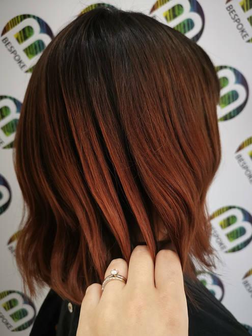 Autumn Inspired Balayage at Bespoke Hair Salon Dunfermline