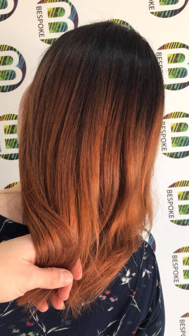 Copper Hair Colour at Bespoke Hair Salon Dunfermline