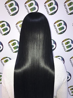 Shiny Healthy Black Hair at Bespoke Salo