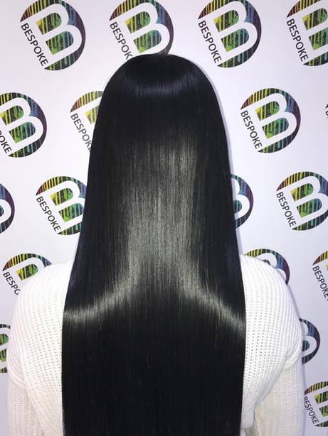 Shiny Healthy Black Slick Hair