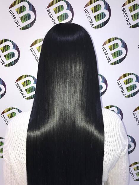 Shiny Healthy Black Slick Hair Colour