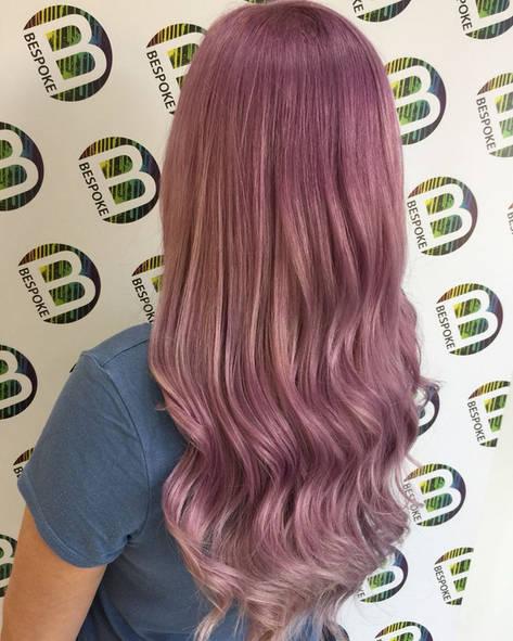 Smokey Lilac Hair Colour at Bespoke Hair Salon