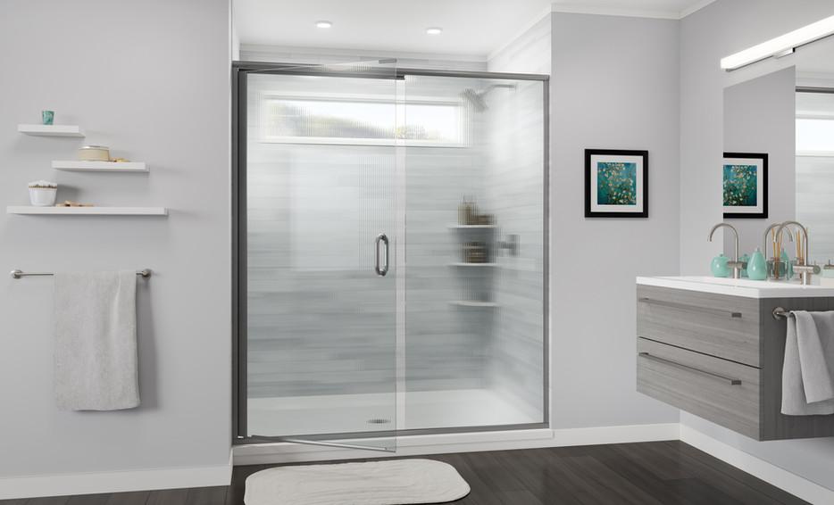 Semi-Frameless Swing Door and Panel