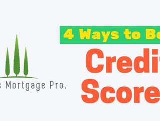 4 Ways to Boost Credit Scores