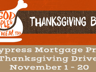 Cypress Mortgage Pro Thanksgiving Drive