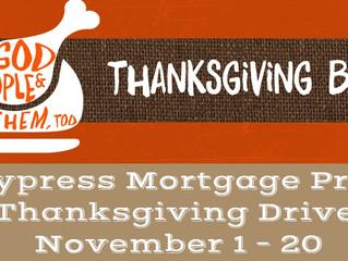 Cypress Mortgage Pro Thanksgiving Drive