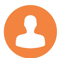 Person in orange circle icon