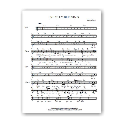 Priestly Blessing (Lead Sheet)