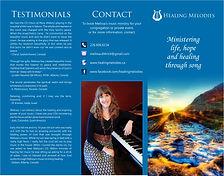 Healing Melodies Brochure - Melissa Dittrich David