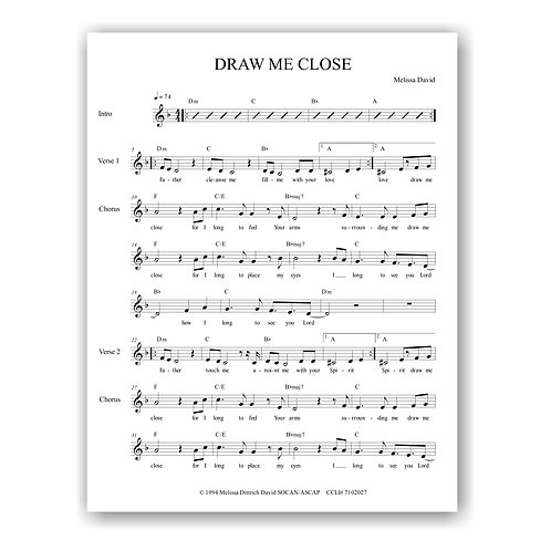 Draw Me Close (Lead Sheet)