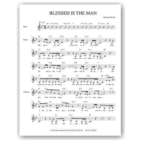 Blessed is the Man (Lead Sheet)