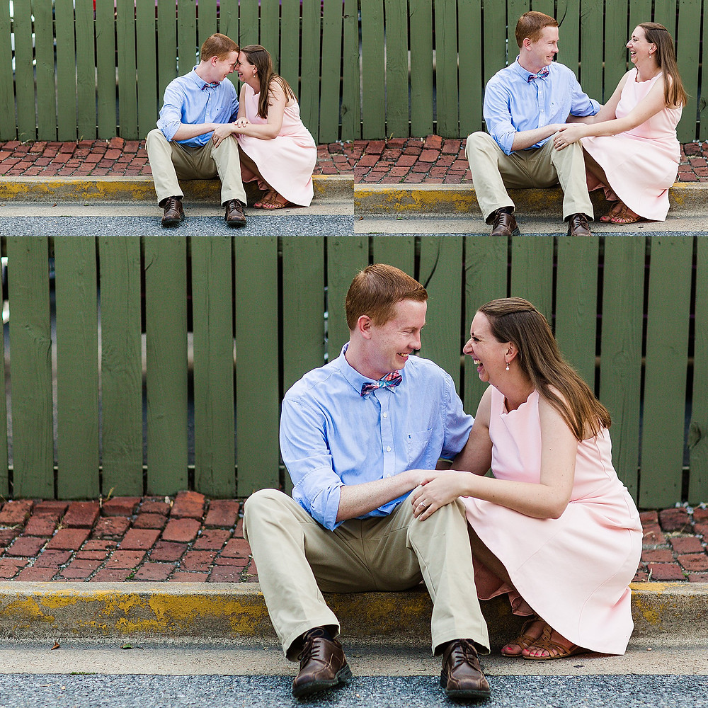 downtown frederick md summer sunset engagement photography