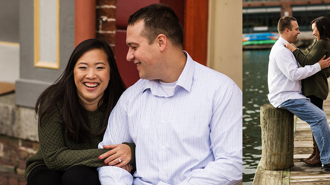 Fells Point Winter Engagement Session | Faye & Mike