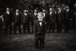 groomsmen groom ring bearer wedding backyard frederick md