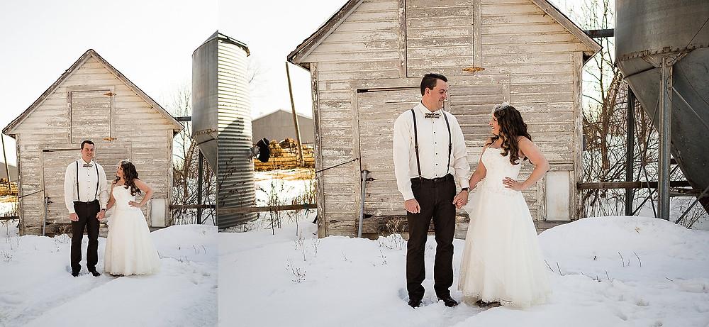 sunny snowy minnesota microwedding wedding frederick md wedding photographer