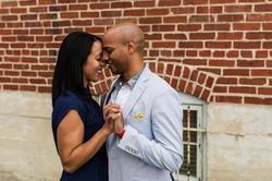 engagement black couple frederick md