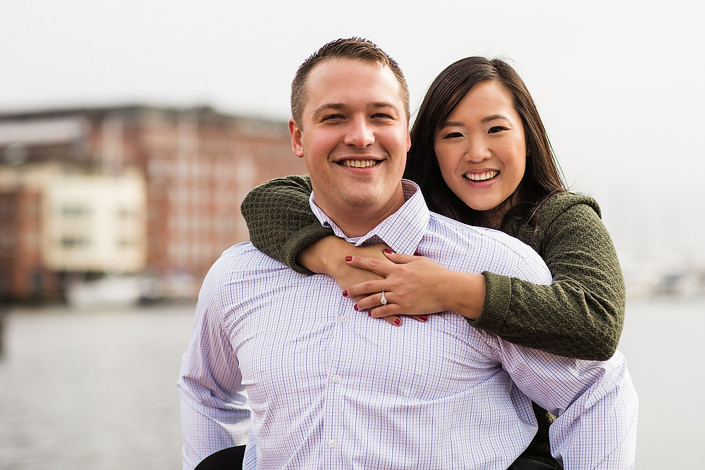 Fells Point Sagamore Pendry baltimore winter engagement session inner harbor
