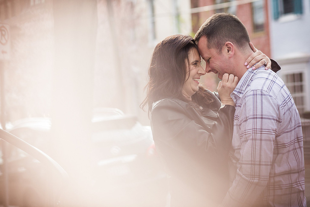 downtown frederick maryland engagement photography