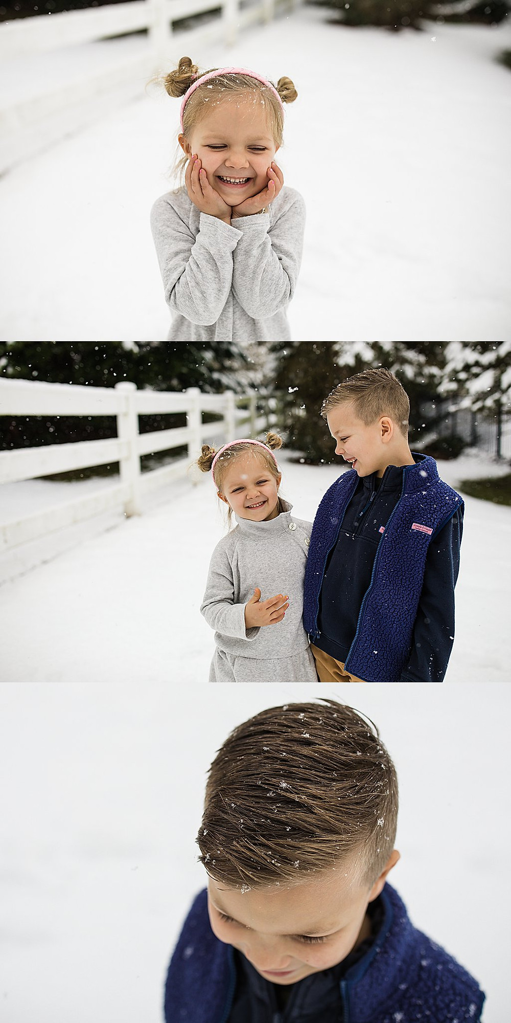 Snowy family session middletown md frederick md