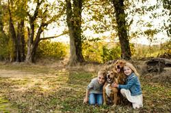 kids dogs portrait family photo frederick md