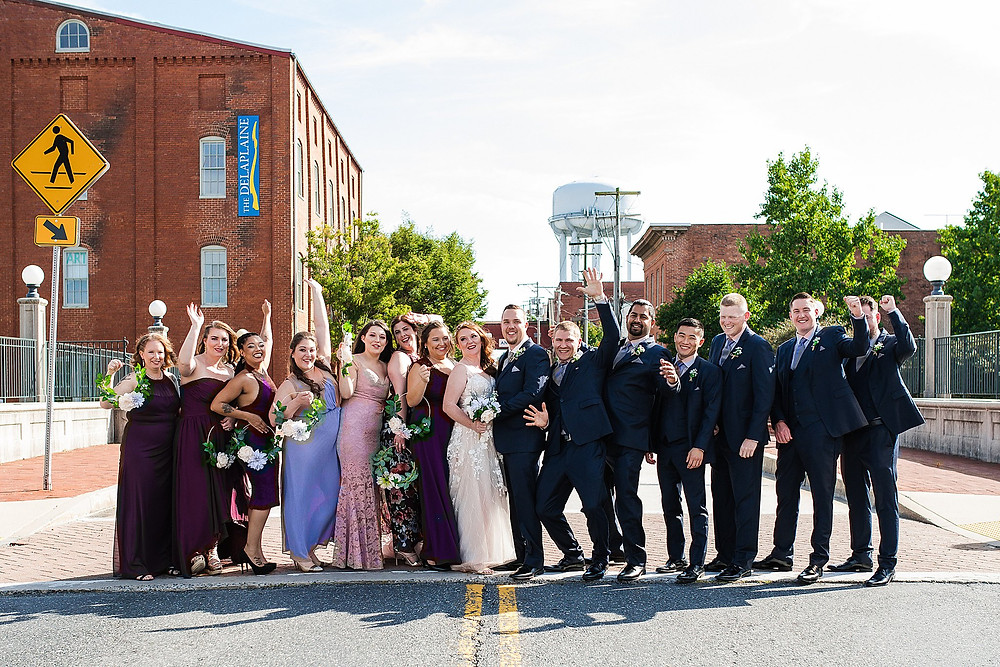 downtown frederick mcclintock distilling carroll creek summer wedding