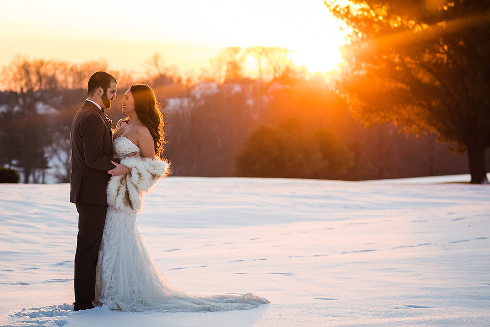 holly hills frederick maryland snowy wedding