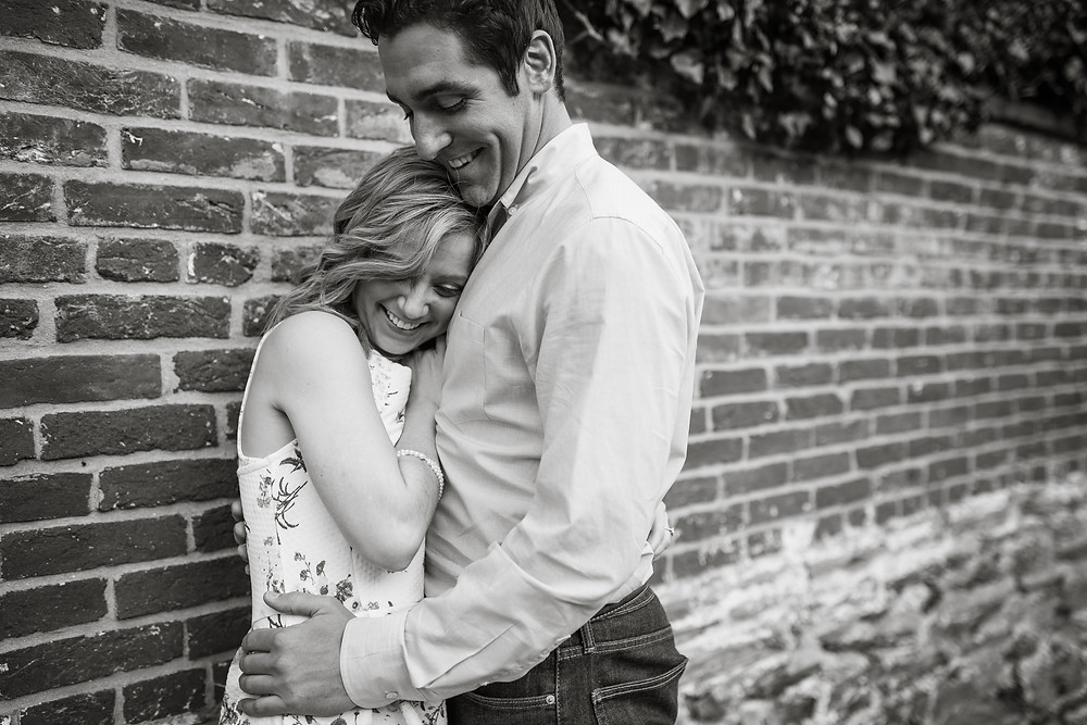 downtown frederick engagement