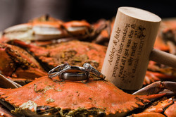crabs rings maryland frederick md wedding