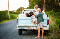 st michaels engagement session dogs blue truck frederick md