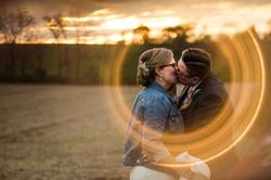 gay lesbian wedding fall sunset frederick md