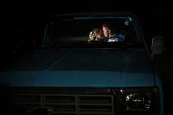 wedding magmod night portrait frederick md blue ford truck