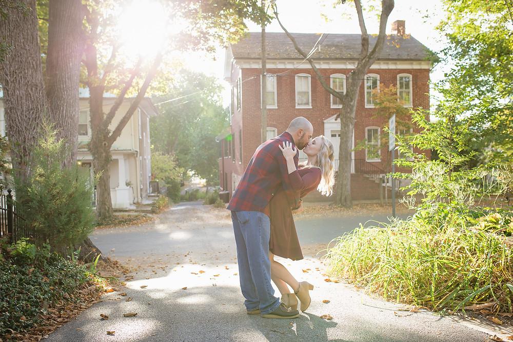 shepherdstown, wv sunrise engagement fall