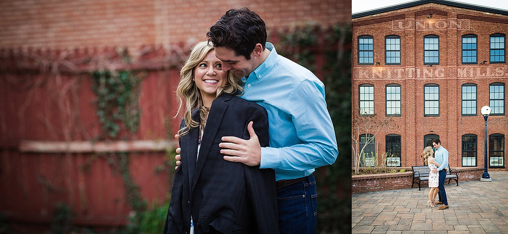 downtown frederick maryland engagement