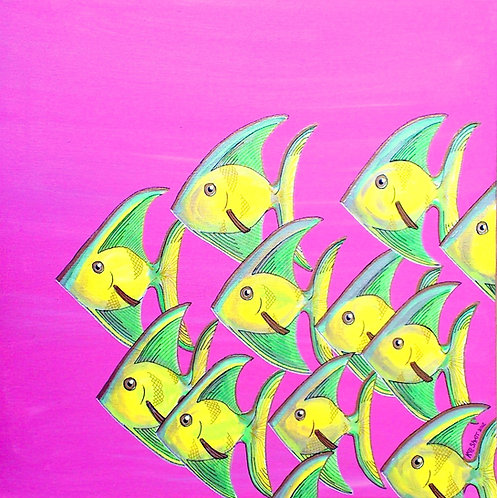 'Funky Fish' Original painting
